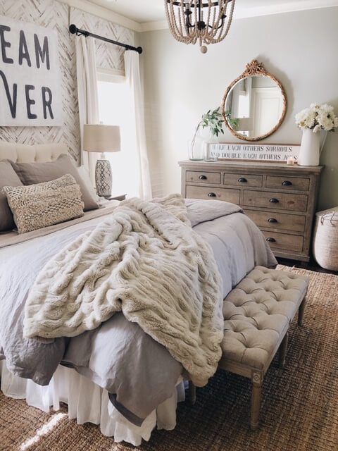 Weathered Wood and Layers of Love Bedroom