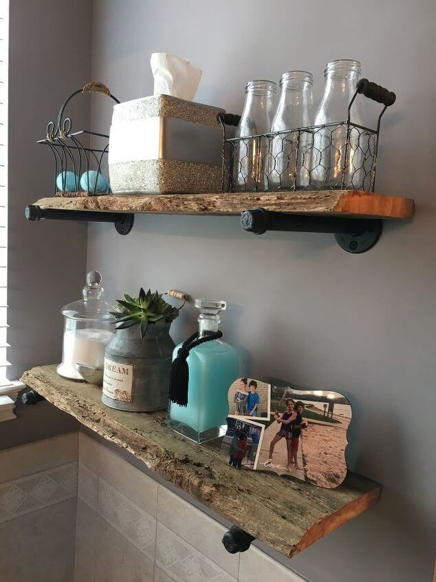 Upcycled Aged Wooden Wall Shelves