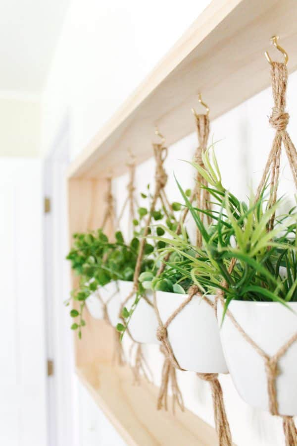 Cheap and Simple Jute Rope Hanging Planters