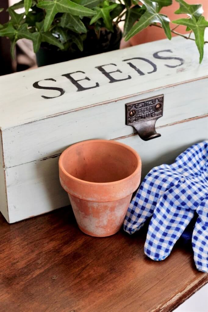 Upcycled Thrift Store Seed Box