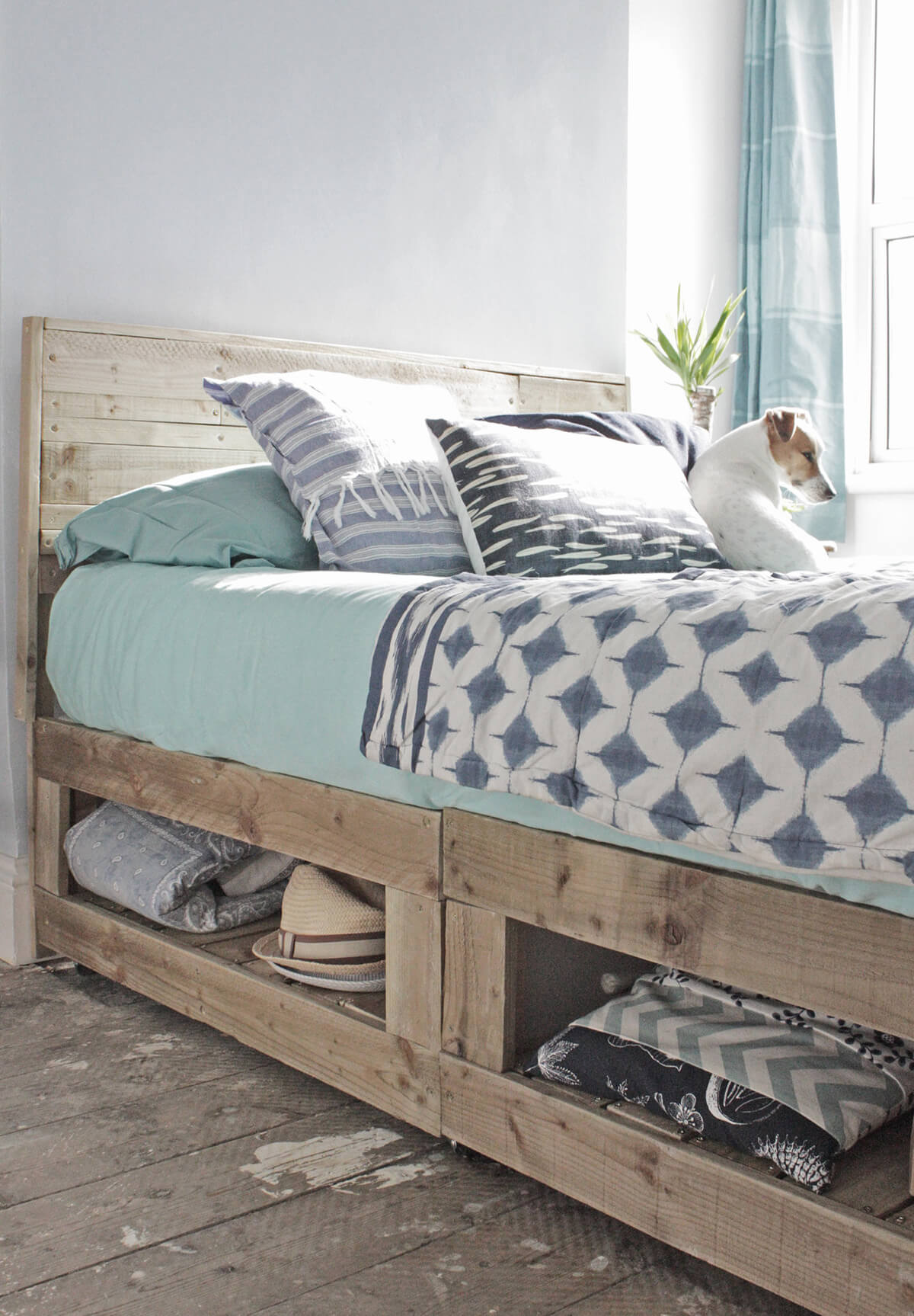 Divan Bed Bottom Storage Hack
