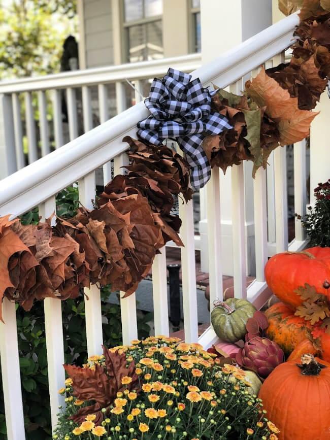 Harvest Time Leaf Gathering DIY Outdoor Garland