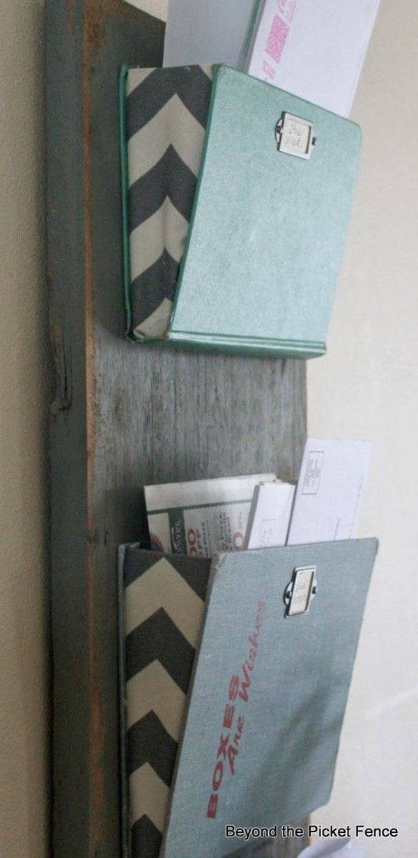 Functional Old Book Mail Organizers
