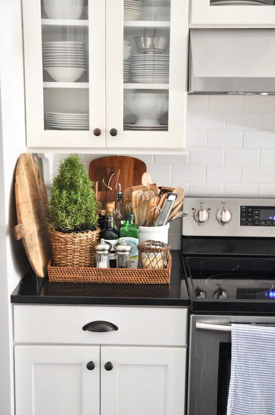 Charming Rural Kitchen Storage Basket