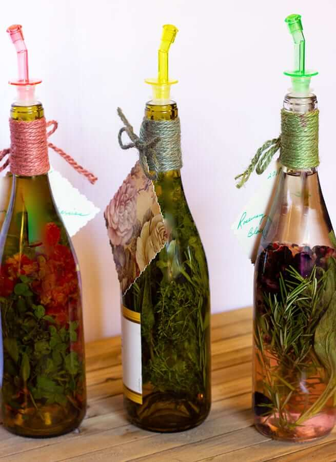 Homemade Vinegar Infused With Herbs