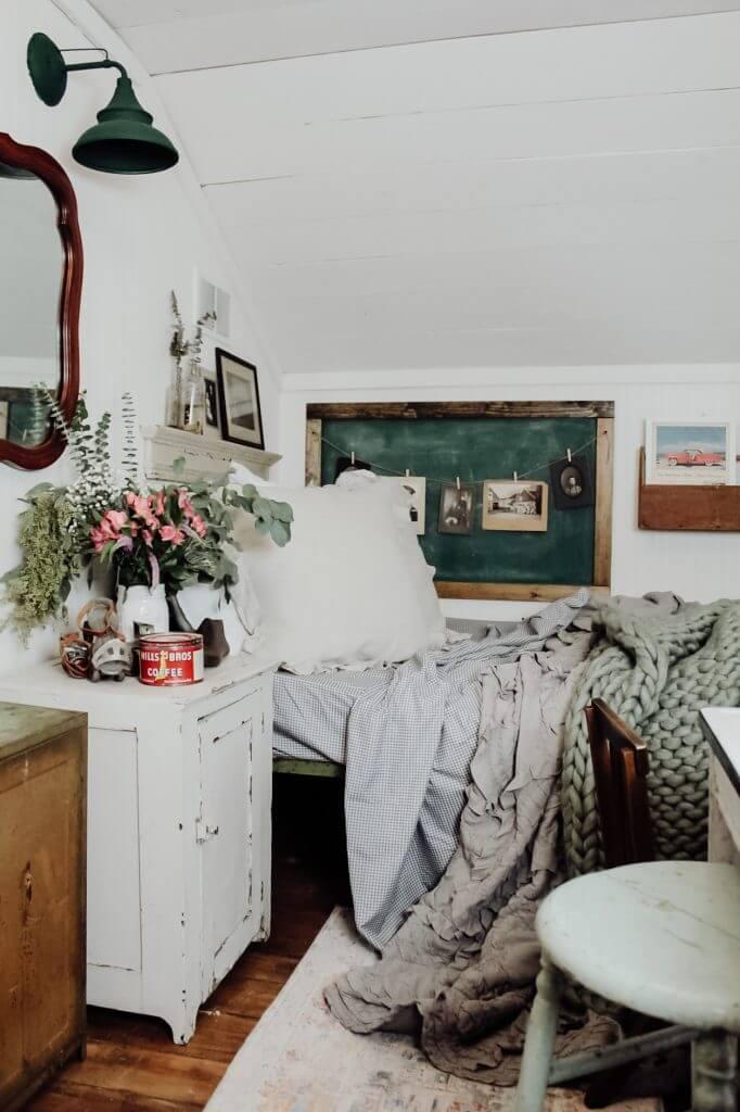 Chalkboard Photo Gallery Farmhouse Bedroom