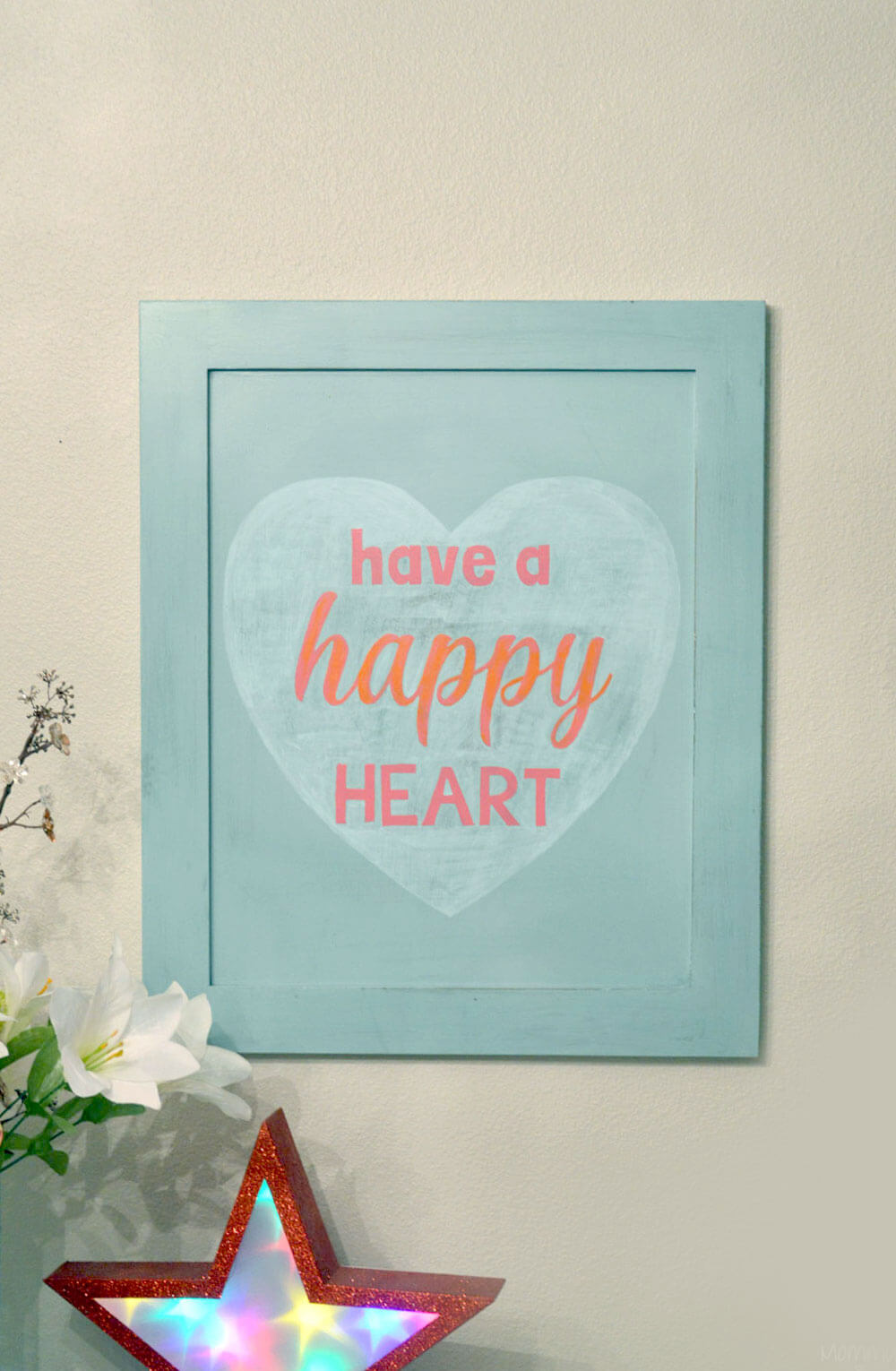 Pretty and Colorful Happy Heart Sign