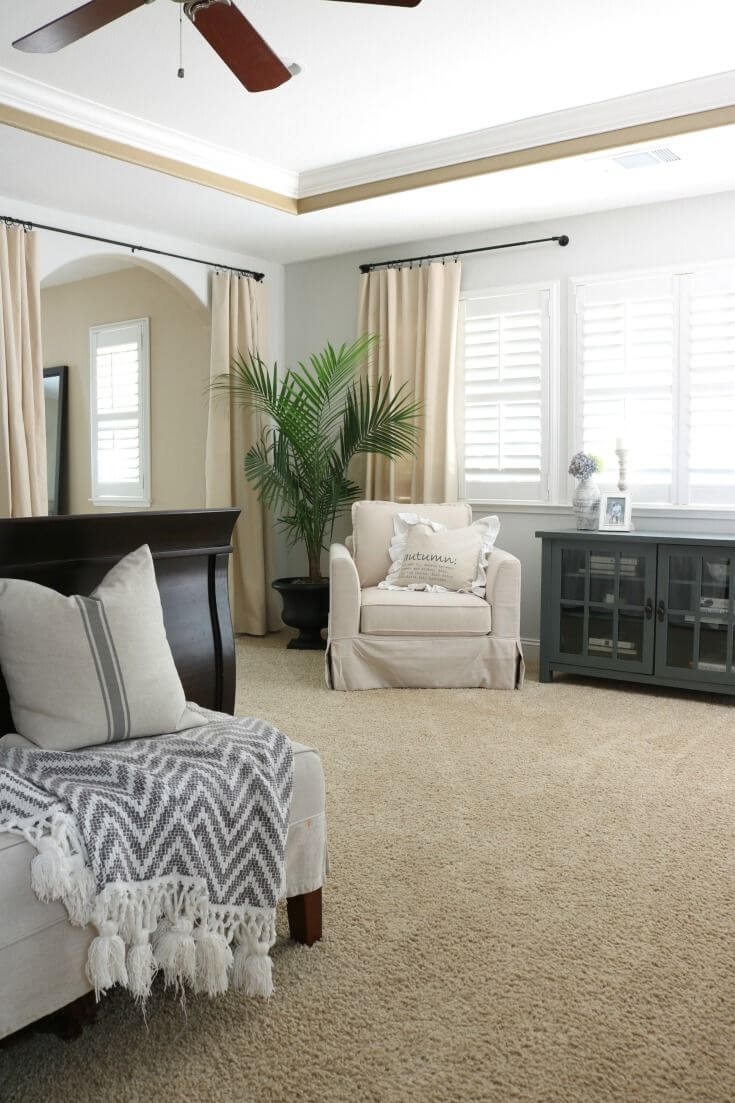 Inexpensive No-Sew Drop Cloth Curtains