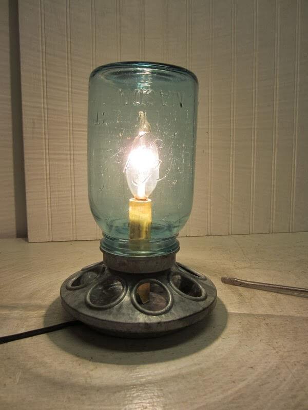 DIY Mason Jar Table Lamp