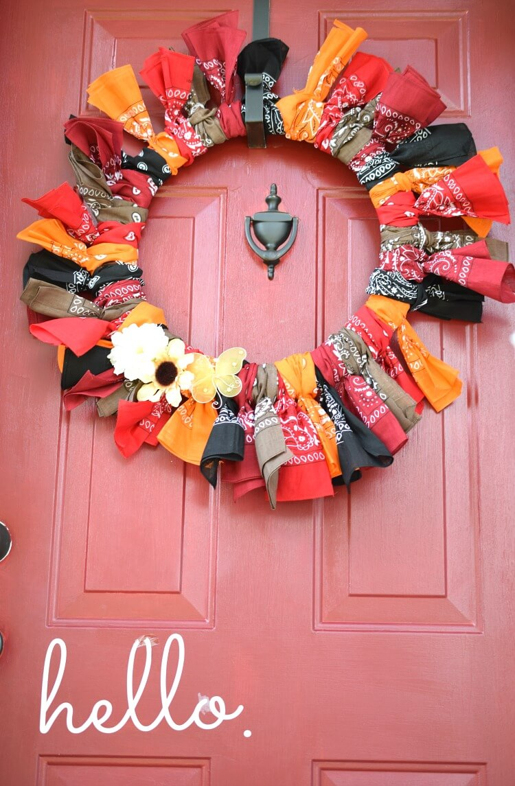 Bandana Wreath for Casual Fall Charm