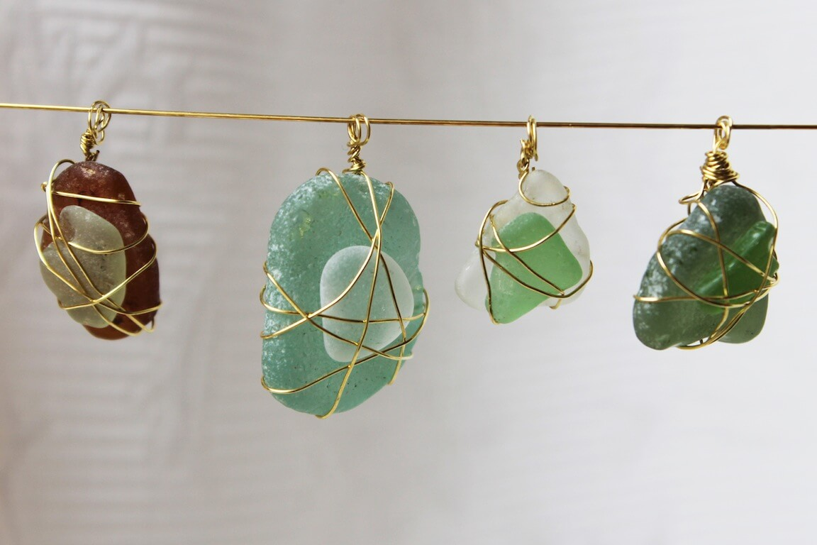 Easy Sea Glass Jewelry Pendants