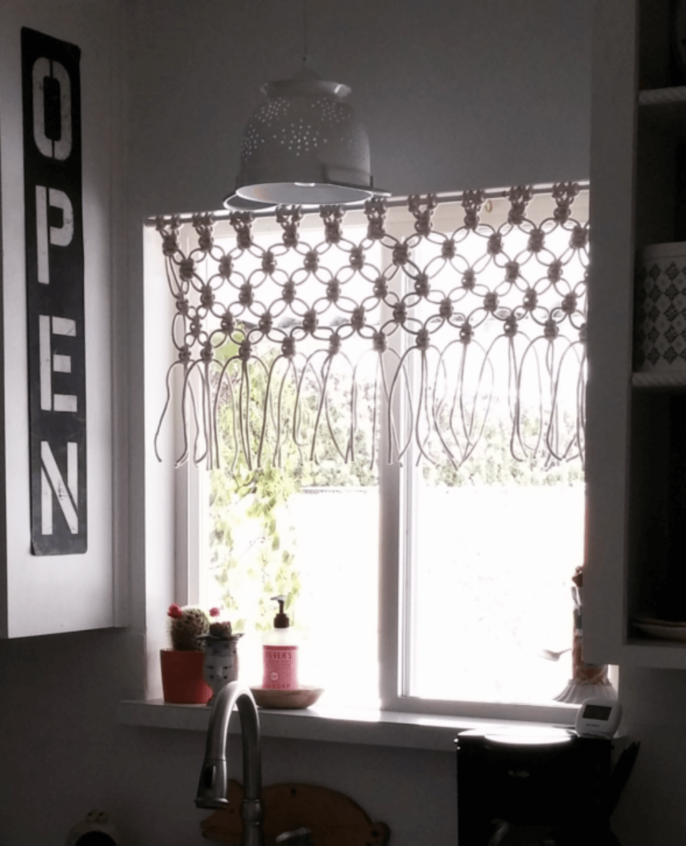 Simply Magnificent Macrame Kitchen Curtains
