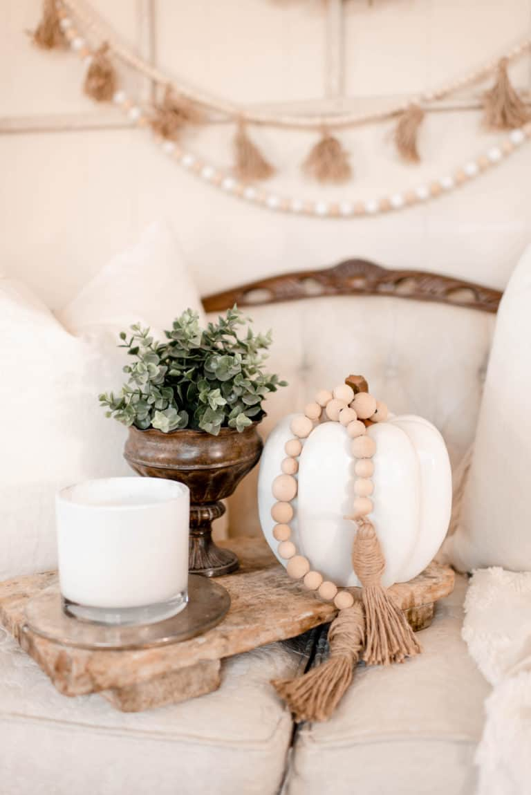 Rough Wooden Tray for Your Fall Display