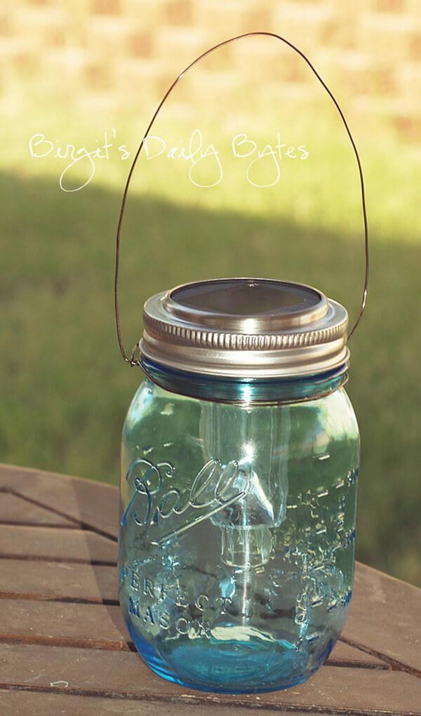 Mason Jar Lanterns for Outdoors