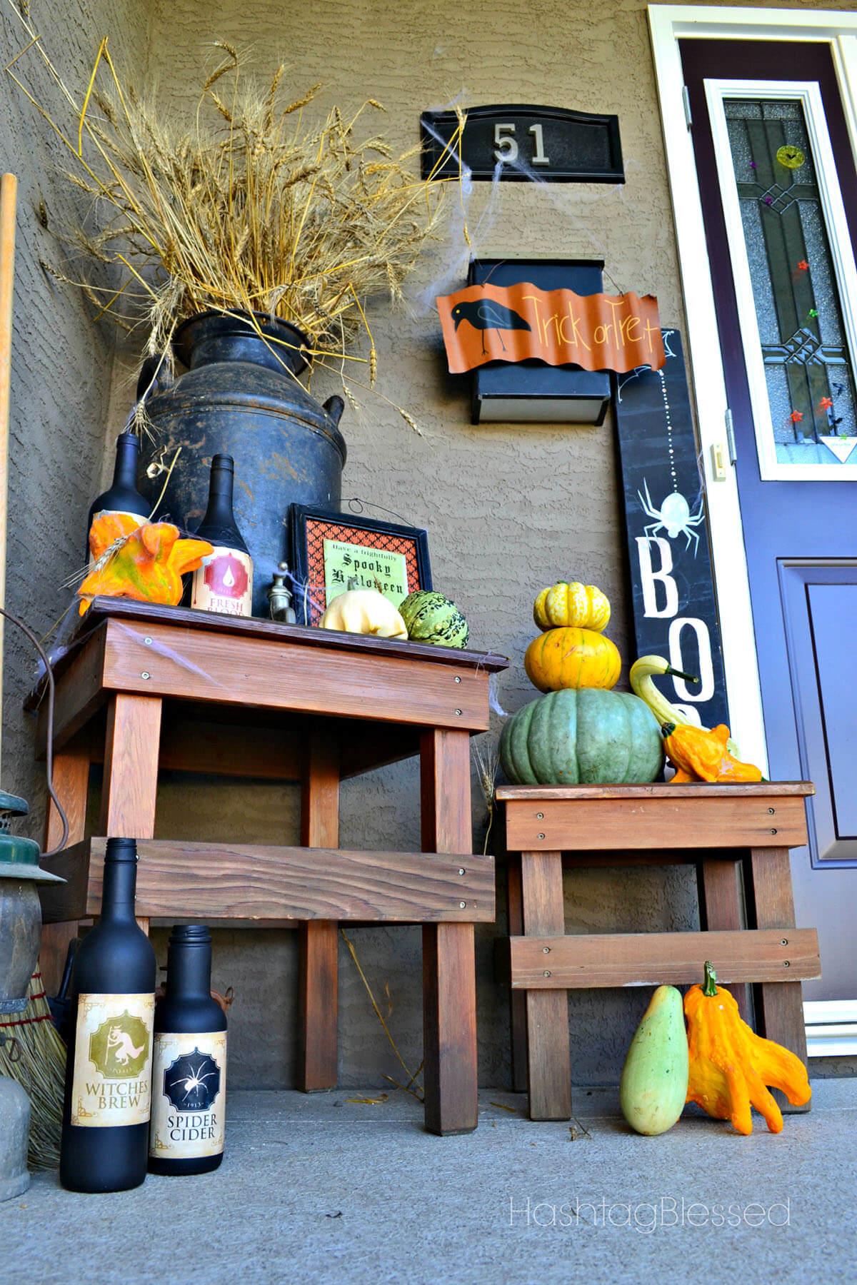 Witches Brew Creepy Halloween Porch Decor