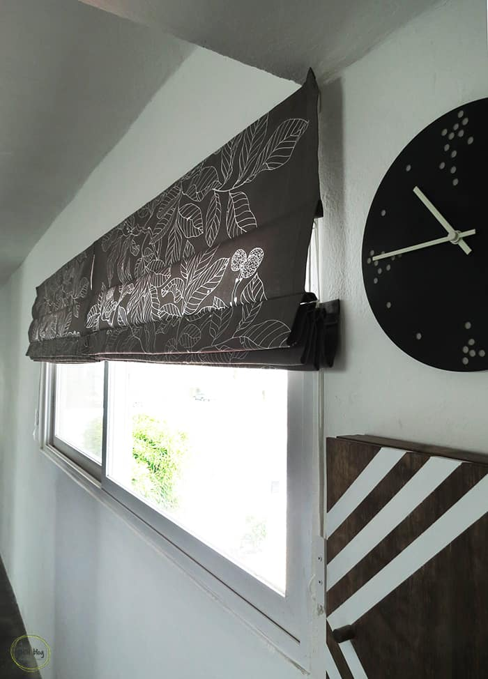 Roman Blinds With Removable Rods