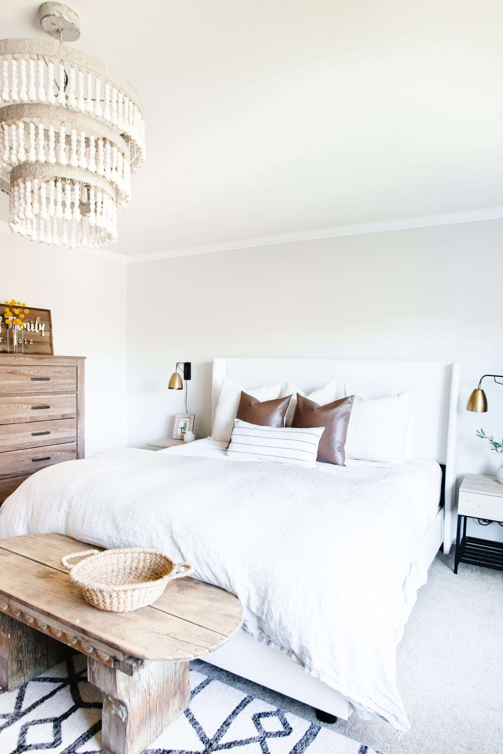 Simply Woven and Wooden Farmhouse Bedroom