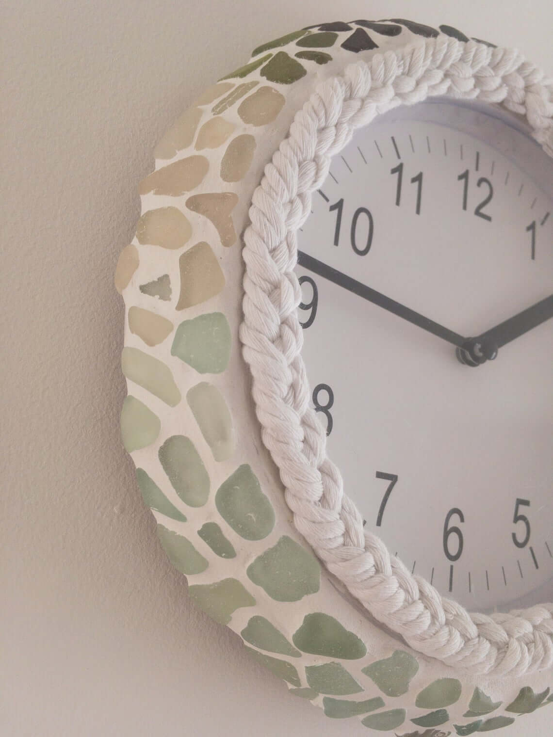 Subtle Sea Glass Ombre Clock