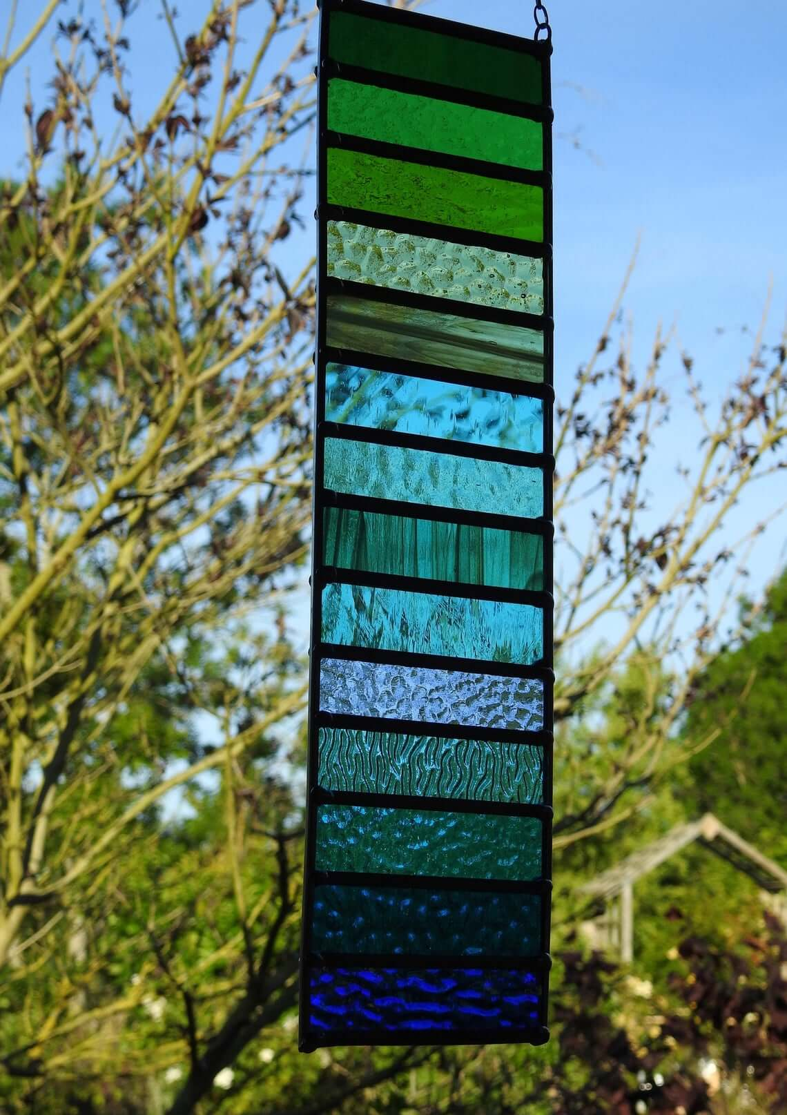 Ombre Stained Glass Decorative Garden Art
