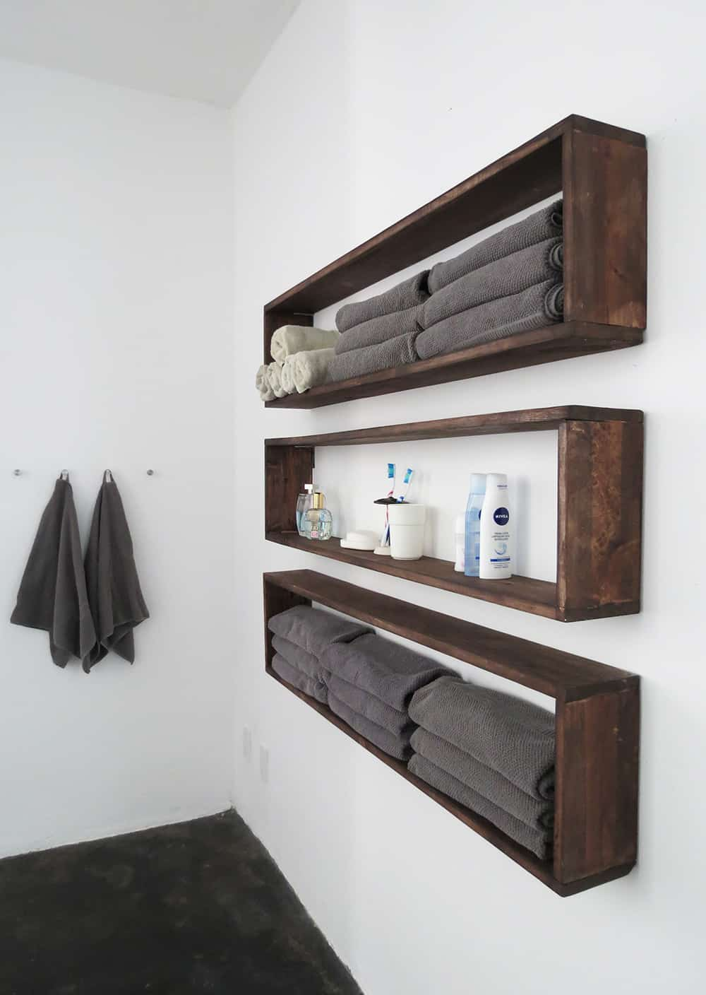Cool Contemporary Earthy Wall Shelves