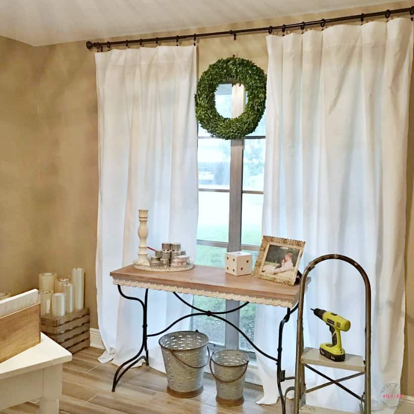 Low-Cost No-Sew Farmhouse Curtains