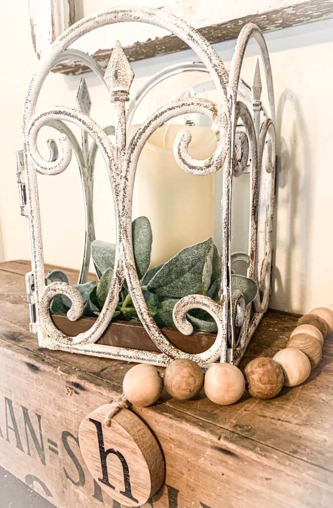French Country Decorative Scrolled Candle Cage
