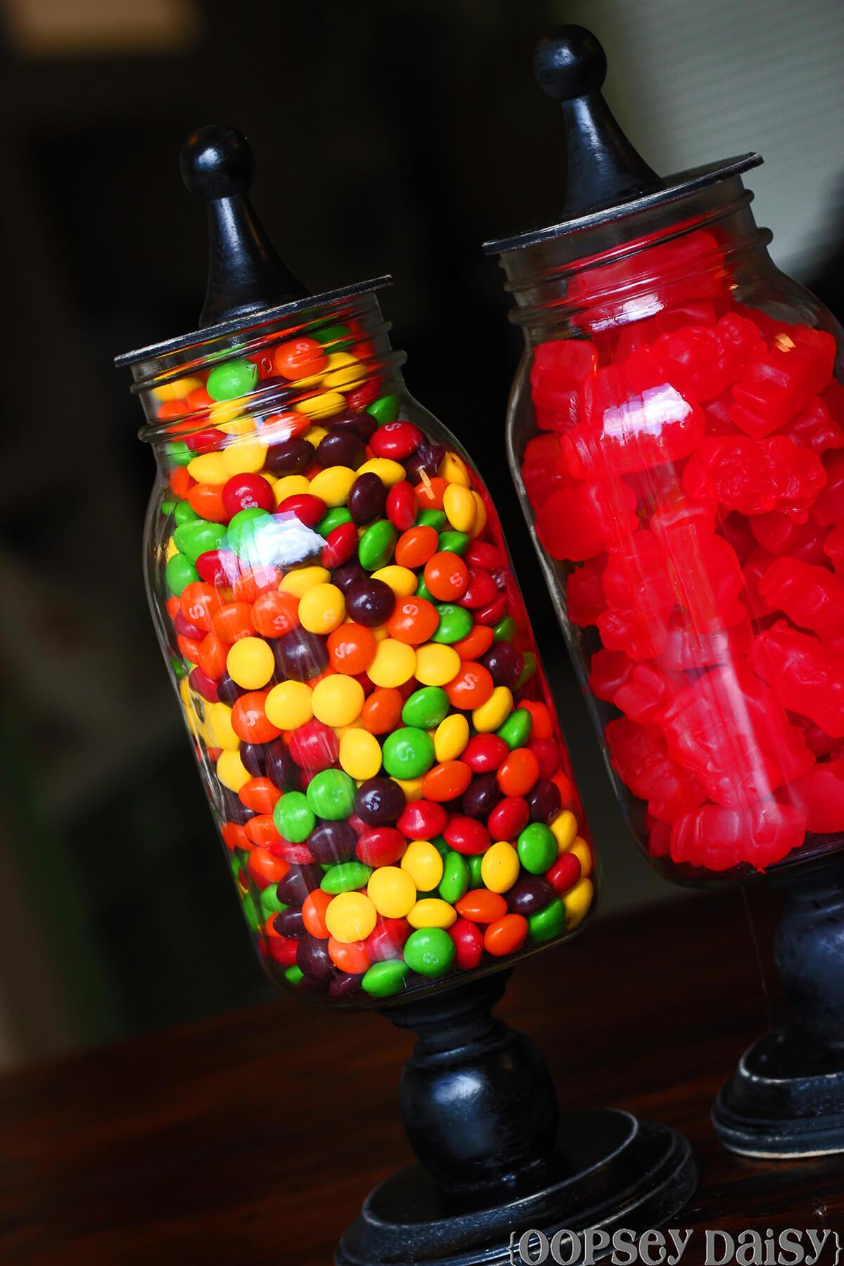 DIY Giant Mason Candy Jars