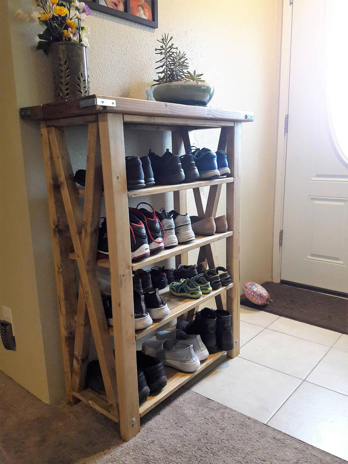 Four-Tiered Sturdy Shoe Shelf