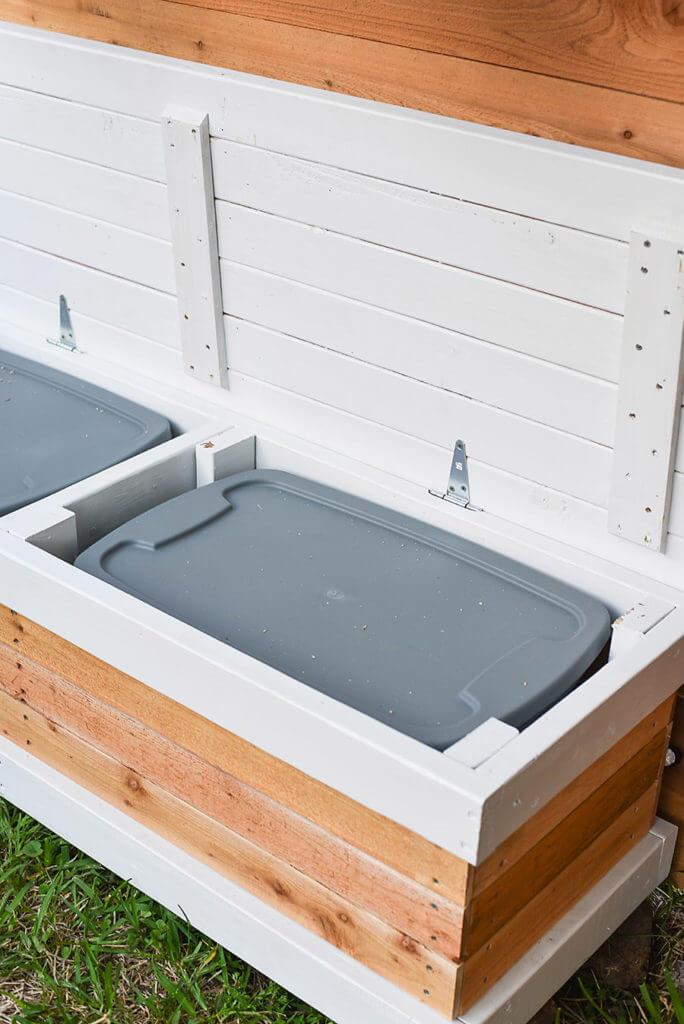 Backyard Bench with Hidden Storage