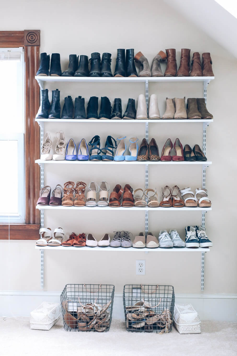 Simple and Visible Shoe Shelves