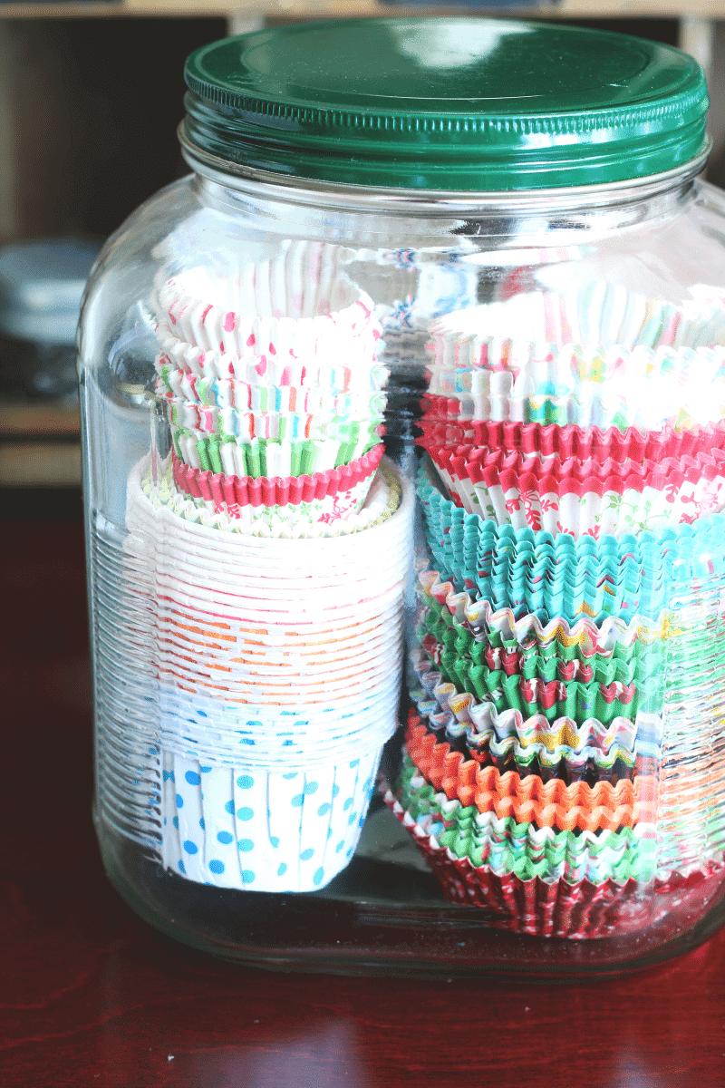 Large Glass Jar Kitchen Organizer
