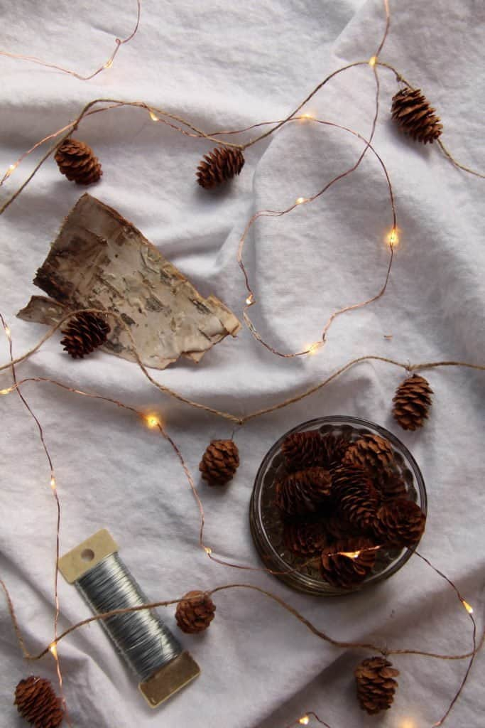 Light the Way with Pinecone Garland