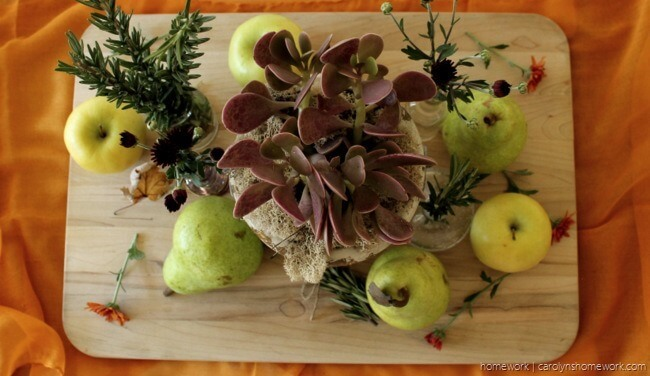 Cutting Board Full of Fruit and Flowers