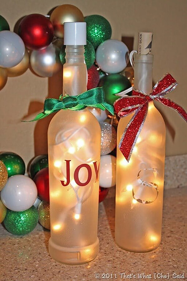 Light Up the Night Wine Bottle Decor