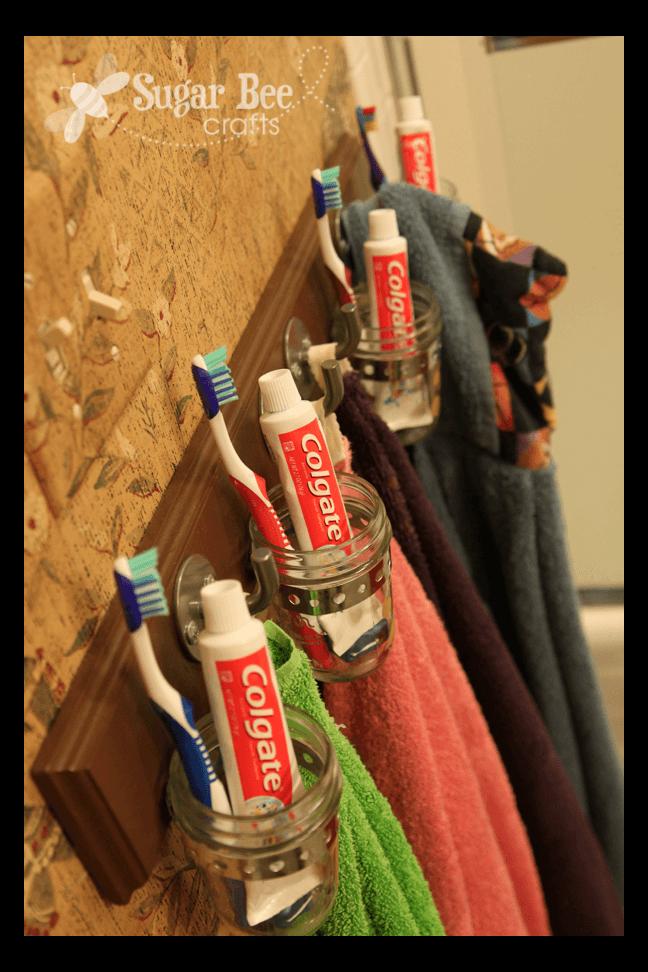 Bathroom Organizer and Towel Rack