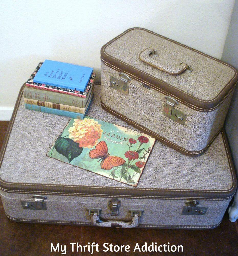 Timeless Stacked Luggage Storage Solution