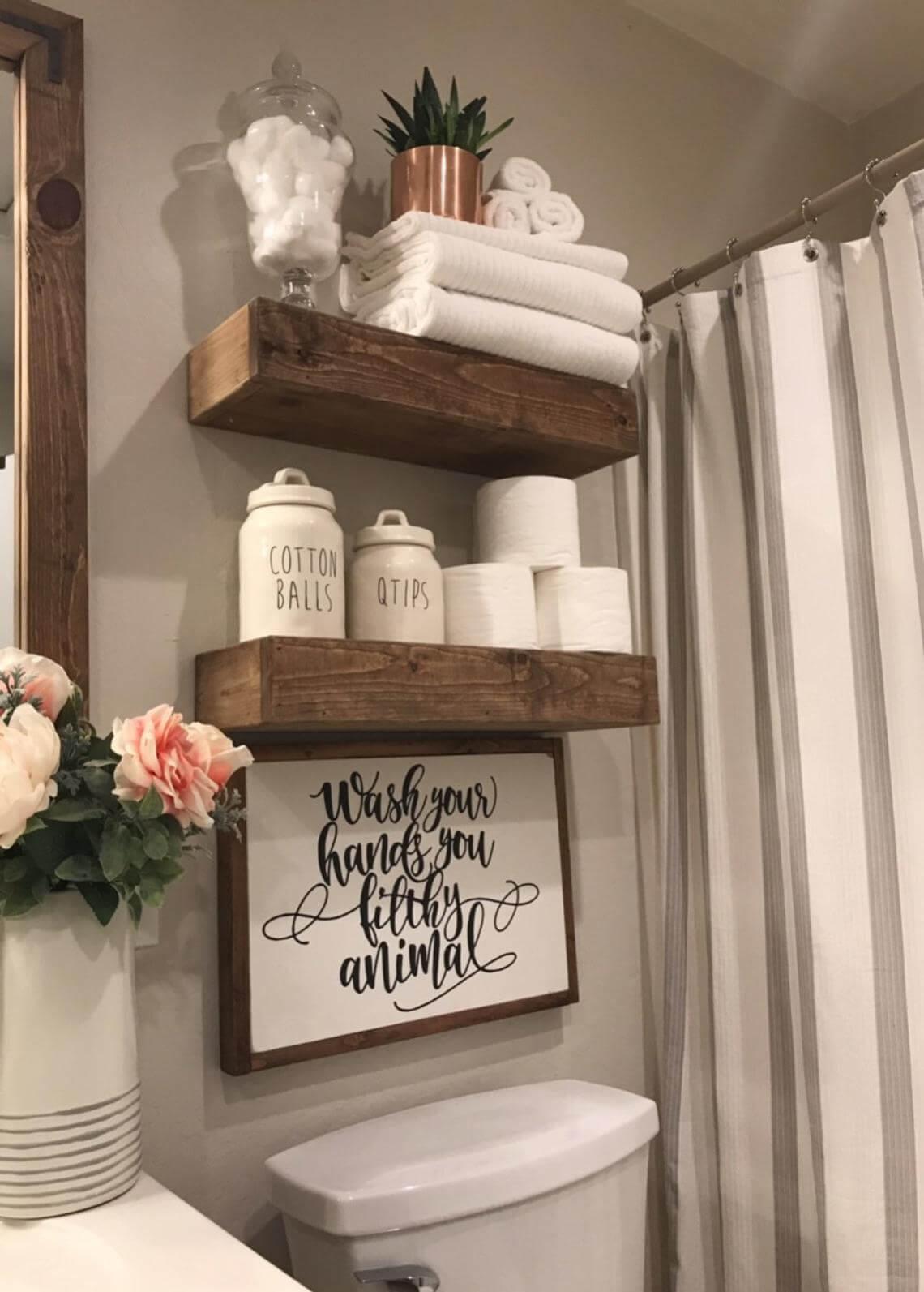 Wood Works Wonders in this Rustic Bathroom