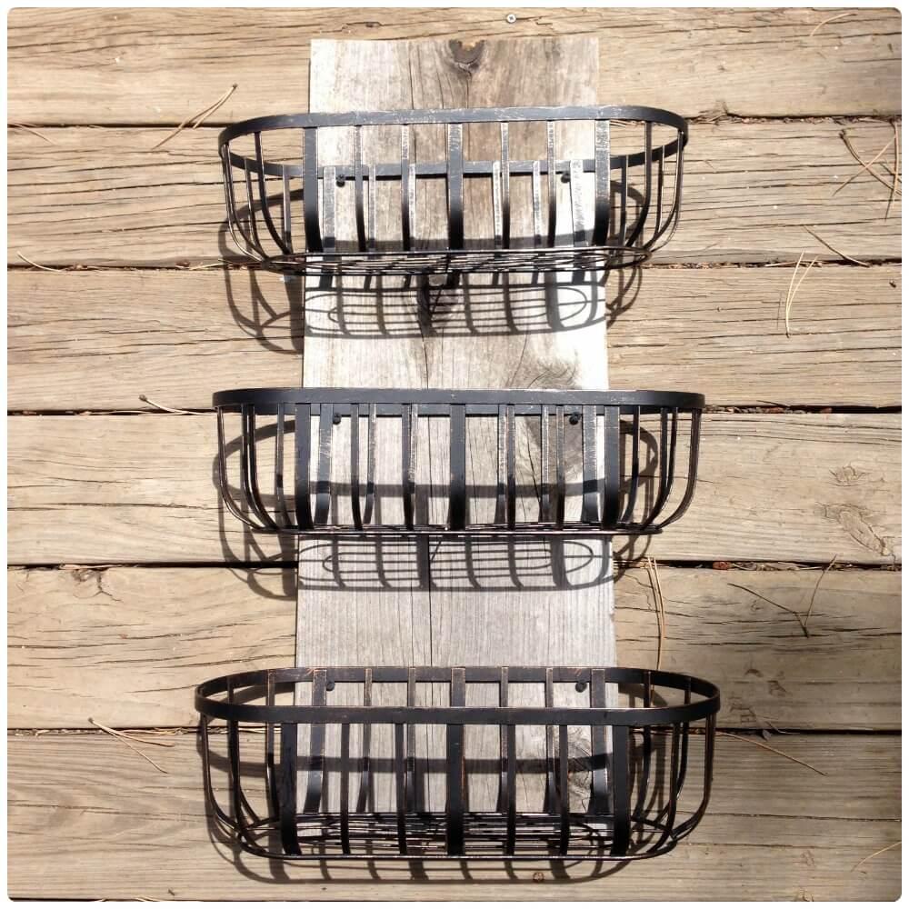 Wall Hanging Wire Basket Organizer