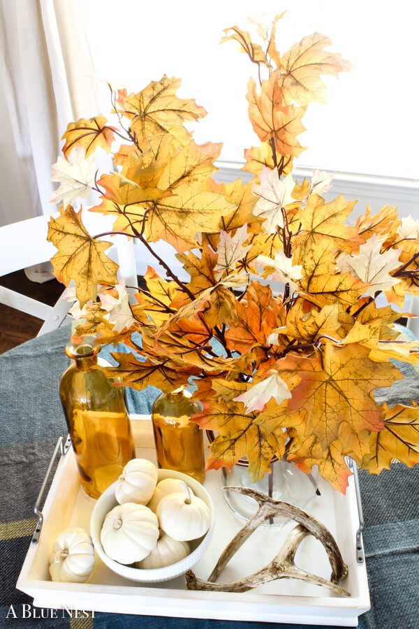 Gorgeous Golden Leaves Brighten Up Classic White