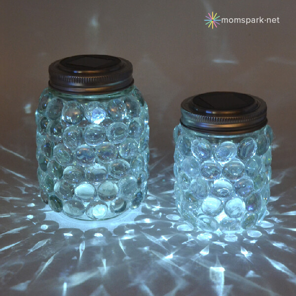 Bedazzled Glowing Jar Lights