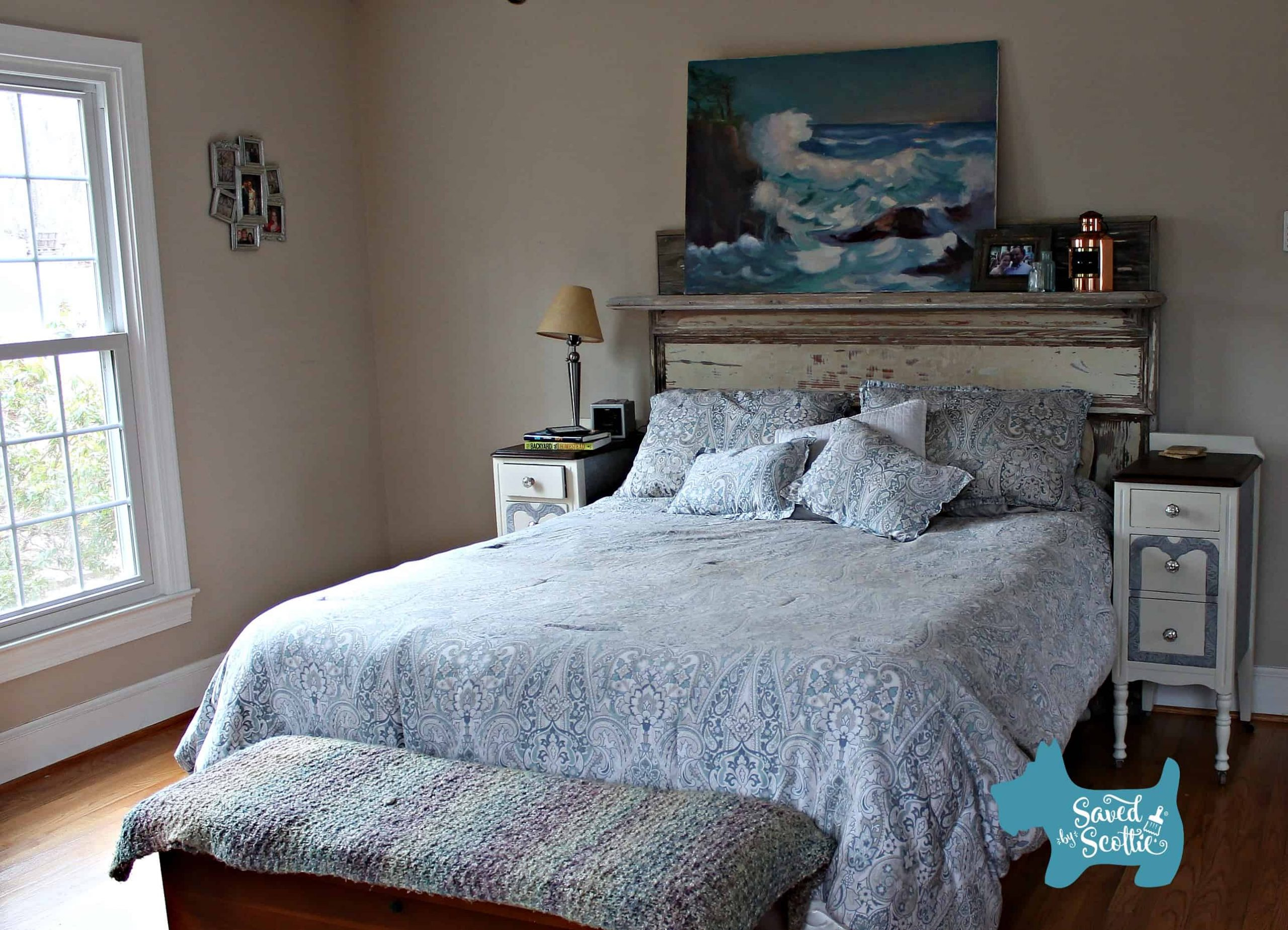 Seaside and Vintage Farmhouse Bedroom
