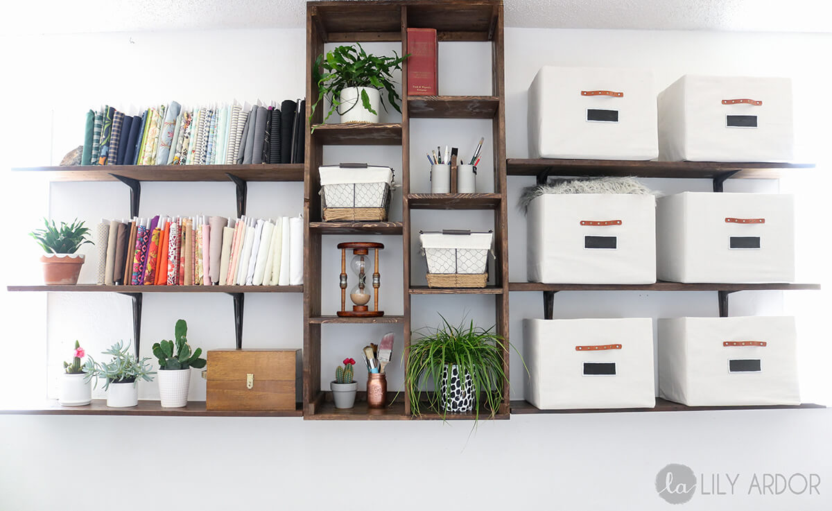 Crate Style Wooden Custom Shelving