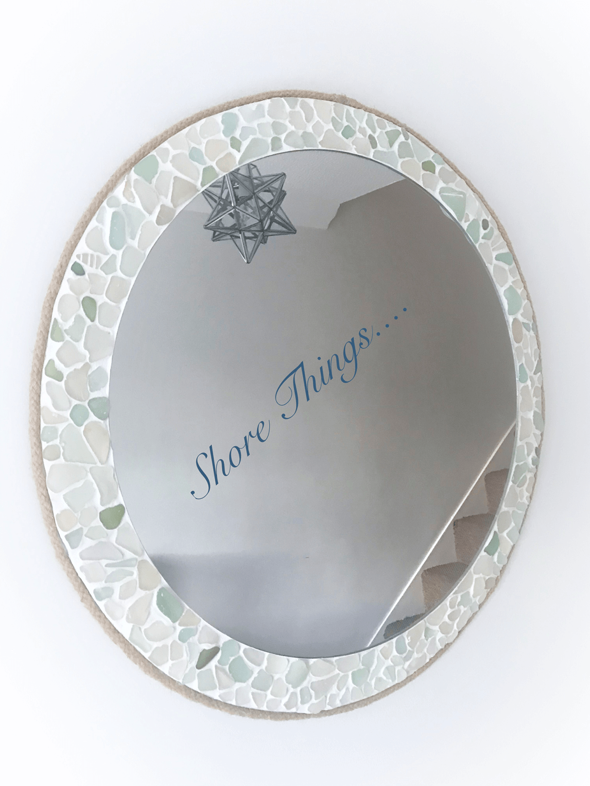 Large Pastel Mosaic Sea Glass Mirror