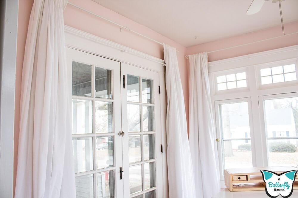 No-Sew Sheets and Drop Cloths Curtains