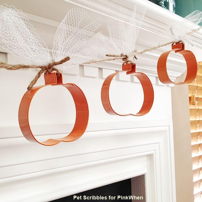 Cookie Cutter Cute Pumpkin DIY Garland