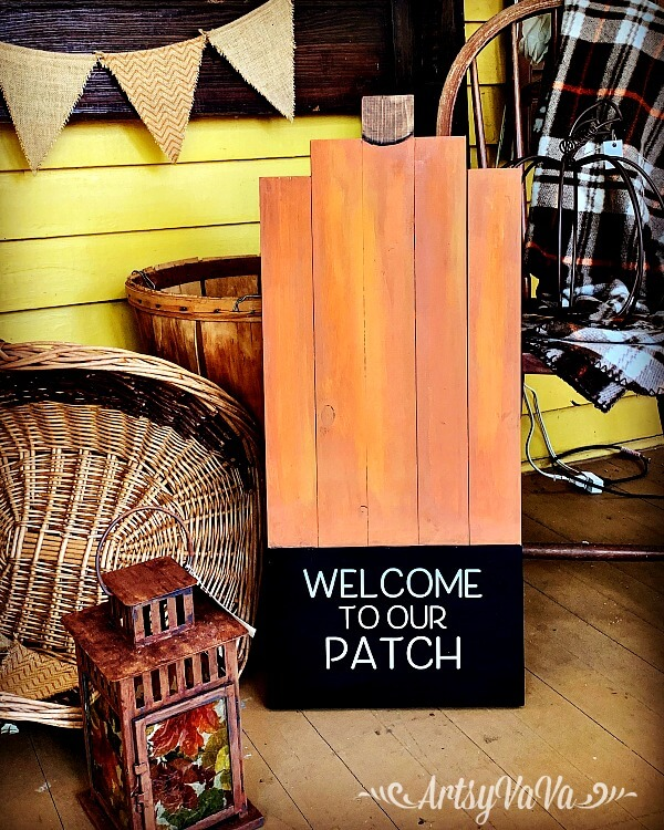 Welcome to Our Patch Pumpkin Porch Sign