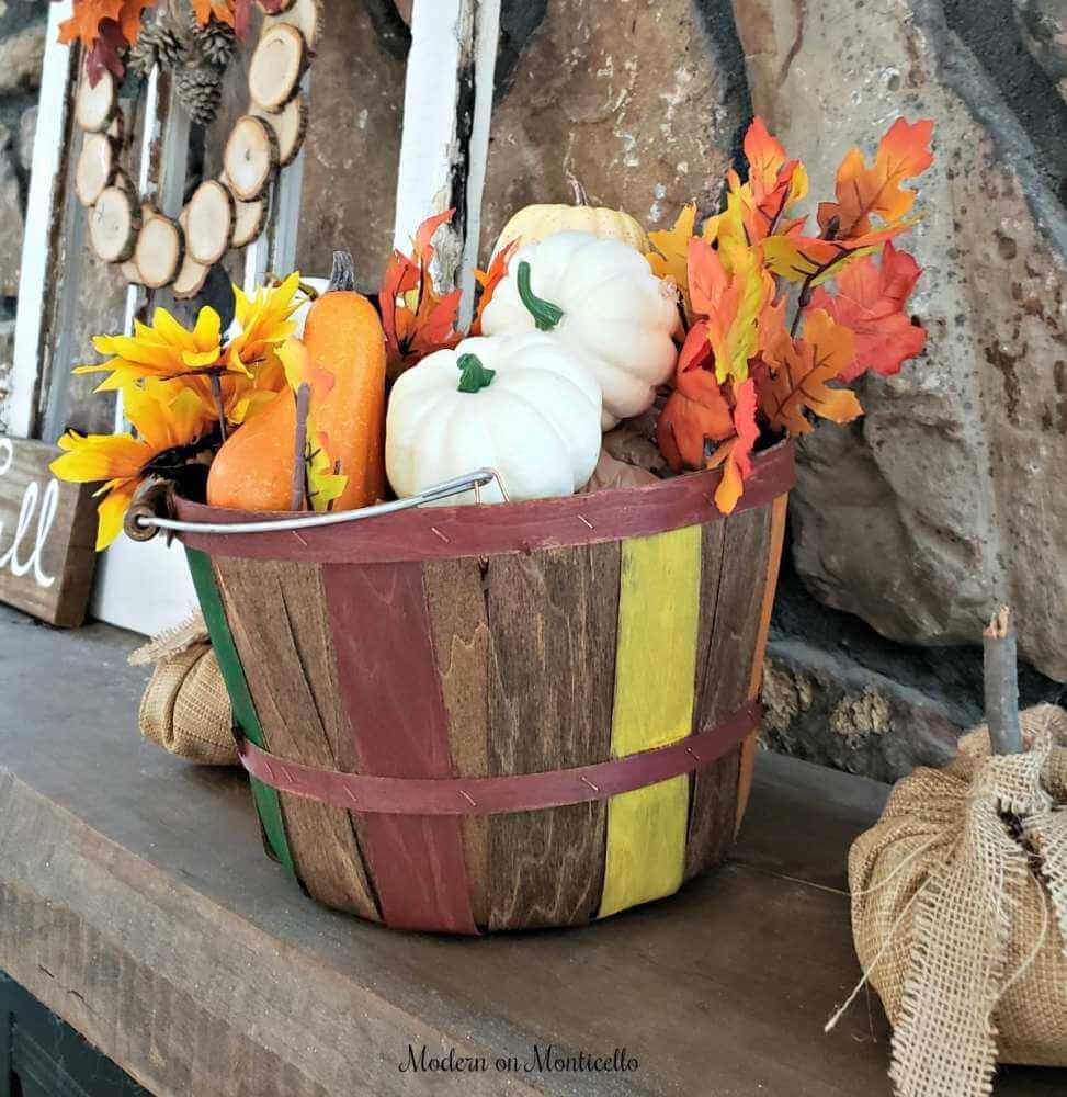 Bushel Basket of Fall Colors Galore