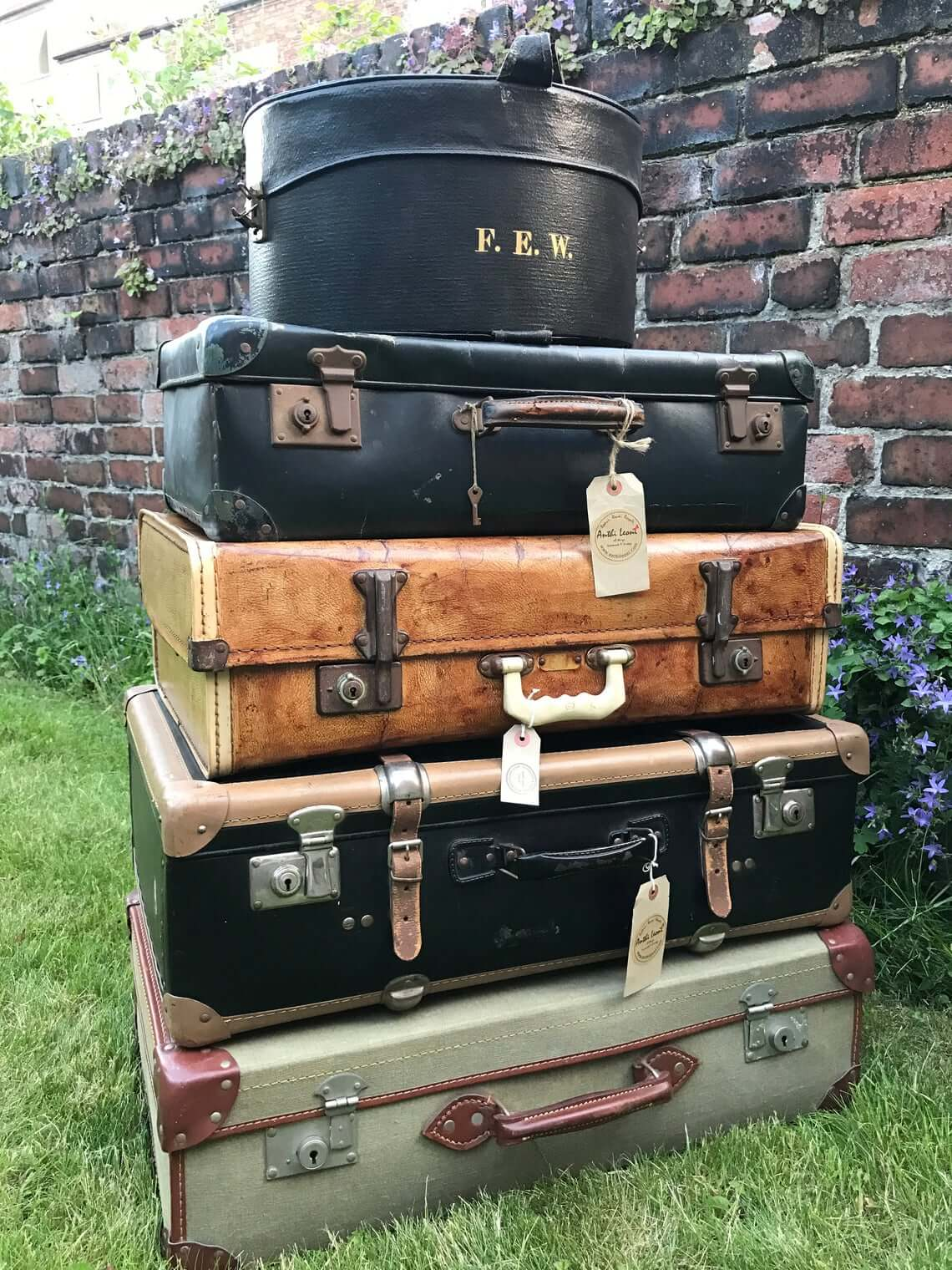 Assorted Vintage Suitcases Storage Solution