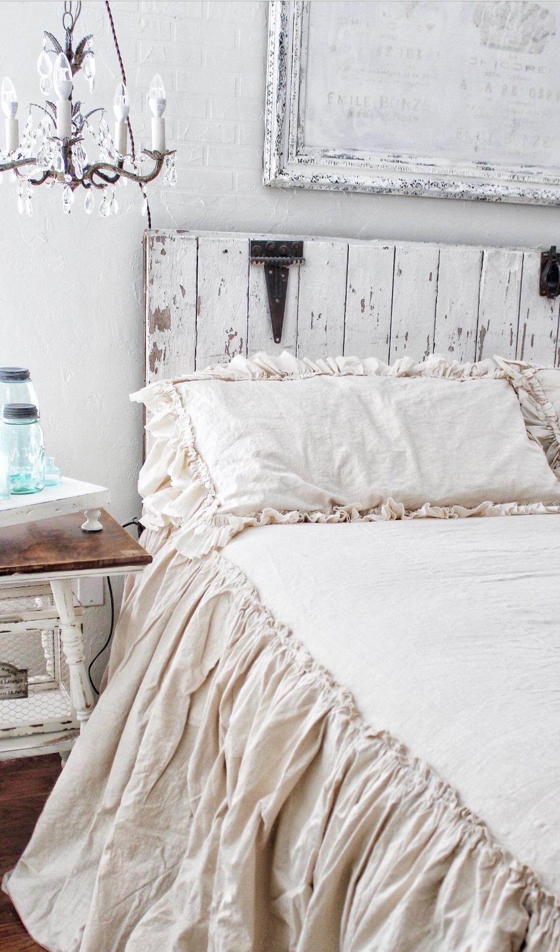 Shabby Chic with Chandelier and Ruffles