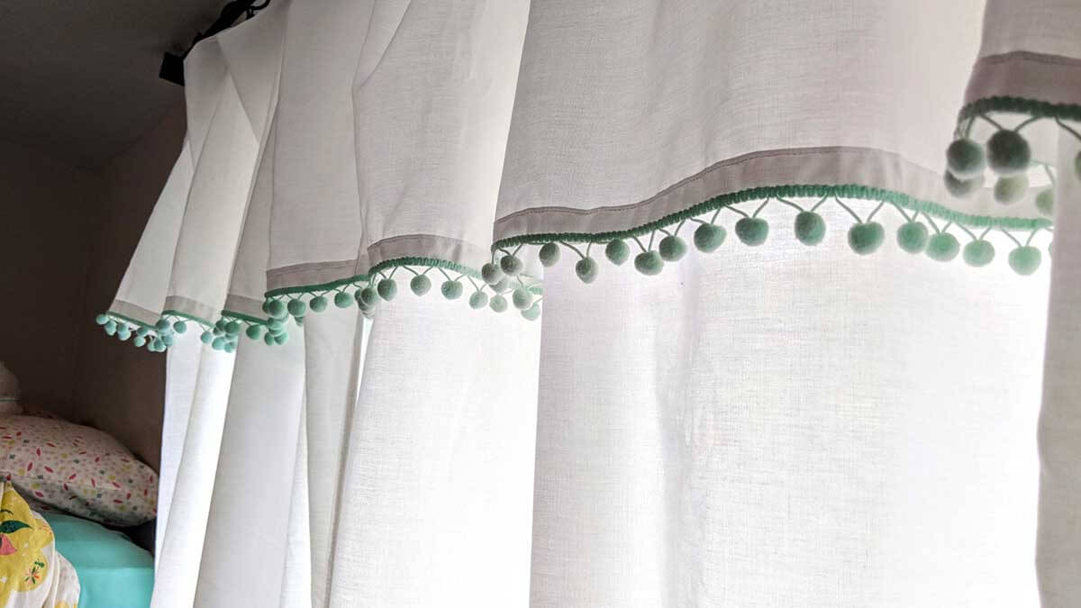 No-Sew Curtains With Built-In Valence